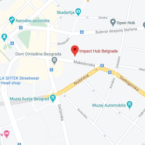 impact hub belgrade map